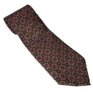 Christian Dior monsieur green & gold pattern tie